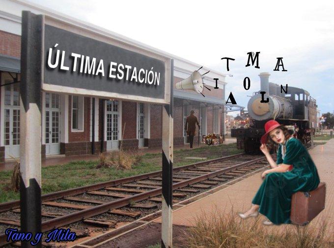 Avanzo por estaciones de un tren que se siente viejo. Ilustración de Tano