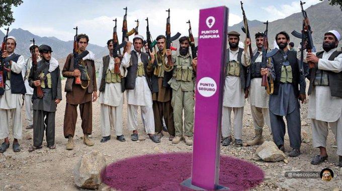 Kabul ha caído. Ilustración de Mescojono