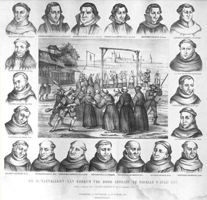 Los diecinueve mártires de Gorcum.